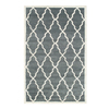 The Rug Market Rectangular Gray Geometric Wool Area Rug (Common: 8-ft x 11-ft; Actual: 8-ft x 11-ft)