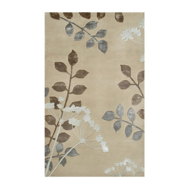 The Rug Market Shabati Rectangular Multicolor Floral Wool Area Rug (Common: 5-ft x 8-ft; Actual: 5-ft x 8-ft)