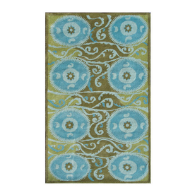 The Rug Market Camden Rectangular Multicolor Transitional Wool Area Rug (Common: 5-ft x 8-ft; Actual: 5-ft x 8-ft)