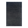 The Rug Market Shabati 5-ft x 7-ft 5-in Rectangular Black Solid Area Rug