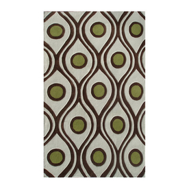 The Rug Market Ecconox Rectangular Multicolor Transitional Area Rug (Common: 8-ft x 10-ft; Actual: 8-ft x 10-ft)