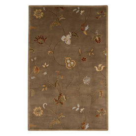 Jaipur Poeme Rectangular Multicolor Transitional Wool Accent Rug (Actual: 24-in x 36-in)