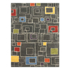 Jaipur Blue 24-in x 36-in Rectangular Multicolor Transitional Accent Rug