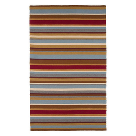 Jaipur Coastal Living I-O 24-in x 36-in Rectangular Multicolor Geometric Accent Rug