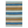 Jaipur Coastal Living Dhurries 4-ft x 6-ft Rectangular Multicolor Transitional Area Rug