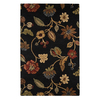 Jaipur Blue 5-ft x 8-ft Rectangular Multicolor Floral Area Rug