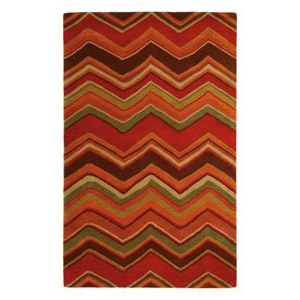 Jaipur Blue Rectangular Multicolor Transitional Wool Area Rug (Actual: 8-ft x 11-ft)
