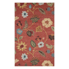 Jaipur Blue 8-ft x 11-ft Rectangular Multicolor Floral Area Rug