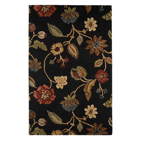 Jaipur Blue Rectangular Multicolor Floral Wool Area Rug (Actual: 8-ft x 11-ft)