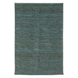 Jaipur Calypso Rectangular Blue Solid Jute Area Rug (Actual: 3-ft 6-in x 5-ft 6-in)