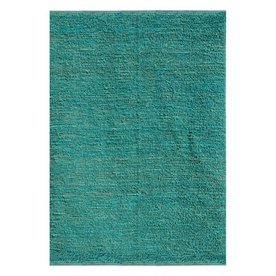 Jaipur Calypso Rectangular Aqua Solid Jute Area Rug (Actual: 3-ft 6-in x 5-ft 6-in)