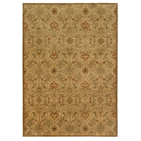 Jaipur Poeme Rectangular Multicolor Transitional Wool Area Rug (Actual: 3-ft 6-in x 5-ft 6-in)