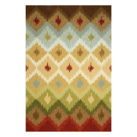 Jaipur Barcelona Rectangular Multicolor Geometric Indoor/Outdoor Area Rug (Actual: 5-ft x 7-ft 6-in)