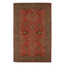 Jaipur Poeme Rectangular Multicolor Transitional Wool Area Rug (Actual: 9-ft 6-in x 13-ft 6-in)