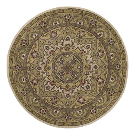 Kaleen Tara Round Multicolor Transitional Wool Area Rug (Common: 10-ft x 10-ft; Actual: 9-ft 9-in x 9-ft 9-in)