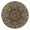 Kaleen Tara 9-ft 9-in x 9-ft 9-in Round Multicolor Transitional Area Rug
