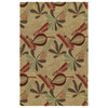 Kaleen Home and Porch Round Multicolor Floral Indoor/Outdoor Area Rug (Common: 6-ft x 6-ft; Actual: 5-ft 9-in x 5-ft 9-in)