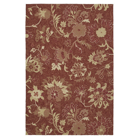Kaleen Home and Porch 5-ft x 7-ft 6-in Rectangular Multicolor Floral Indoor/Outdoor Area Rug
