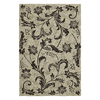 Kaleen Home and Porch Rectangular Cream Floral Indoor/Outdoor Area Rug (Common: 5-ft x 8-ft; Actual: 5-ft x 7-ft 6-in)