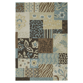 Kaleen Home and Porch 7-ft 6-in x 9-ft Rectangular Multicolor Transitional Indoor/Outdoor Area Rug