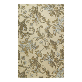 Kaleen Calais Square Multicolor Transitional Wool Area Rug (Common: 8-ft x 8-ft; Actual: 8-ft x 8-ft)