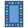 Learning Carpets Cut Pile Rug Rectangular Blue Educational Area Rug (Common: 9-ft x 12-ft; Actual: 8-ft 8-in x 13-ft 4-in)