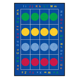 Learning Carpets 6-ft 6-in x 9-ft 5-in Rectangular Multicolor Transitional Area Rug