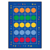 Learning Carpets 8-ft 3-in x 11-ft 8-in Rectangular Multicolor Transitional Area Rug