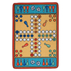 Learning Carpets Play Carpets 36-in x 6-ft 6-in Rectangular Multicolor Sports Indoor/Outdoor Area Rug