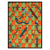 Learning Carpets Play Carpets 36-in x 52-in Rectangular Multicolor Sports Accent Rug