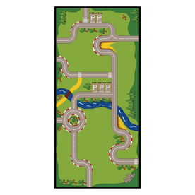 Learning Carpets Play Carpets Multicolor Indoor/Outdoor Runner (Actual: 36-in x 78-in)