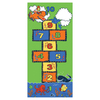 Learning Carpets Play Carpets 36-in x 6-ft 6-in Rectangular Multicolor Transitional Indoor/Outdoor Area Rug