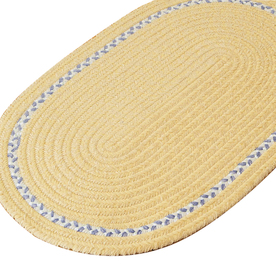 Colonial Mills Chenille Accent-Stripe 7-ft x 7-ft Round Multicolor Border Area Rug