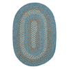 Colonial Mills Georgetown Federal Blue Oval Indoor/Outdoor Braided Area Rug (Common: 4 x 6; Actual: 48-in W x 72-in L)