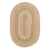 Colonial Mills Georgetown Beige Oval Indoor/Outdoor Braided Area Rug (Common: 5 x 8; Actual: 60-in W x 96-in L)