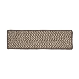 Colonial Mills Espresso Rectangular Stair Tread Mat (Actual: 8-in x 28-in)