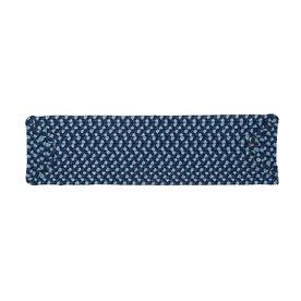 Colonial Mills Blue Burst Rectangular Stair Tread Mat (Actual: 8-in x 28-in)