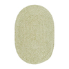 Colonial Mills Spring Meadow 7-ft x 9-ft Oval Green Solid Indoor/Outdoor Area Rug