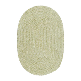 Colonial Mills Spring Meadow Oval Green Solid Indoor/Outdoor Area Rug (Common: 8-ft x 11-ft; Actual: 8-ft x 11-ft)
