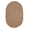 Colonial Mills Spring Meadow Sand Bar Oval Indoor/Outdoor Braided Throw Rug (Common: 2 x 3; Actual: 24-in W x 36-in L)