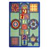 Joy Carpets Joy Games 15-ft x 10-ft Rectangular Multicolor Geometric Area Rug