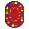 Joy Carpets First Lessons 7-ft 7-in x 7-ft 7-in Round Multicolor Holiday Area Rug