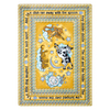 Joy Carpets Hey Diddle Diddle 7-ft 7-in x 7-ft 7-in Round Multicolor Educational Area Rug