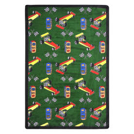 Joy Carpets Pit Stop 129-in x 92-in Rectangular Multicolor Sports Indoor Use Only Area Rug