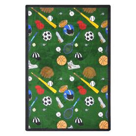 Joy Carpets Multi-Sport 10-ft 9-in x 7-ft 8-in Rectangular Multicolor Sports Area Rug