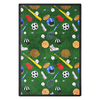 Joy Carpets Multi-Sport 10-ft 9-in x 7-ft 8-in Rectangular Multicolor Sports Area Rug