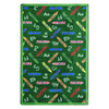 Joy Carpets Crayons 11-ft 2-in x 10-ft 9-in Rectangular Multicolor Educational Area Rug