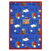 Joy Carpets Bookworm 5-ft 4-in x 3-ft 10-in Rectangular Multicolor Educational Area Rug