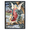 Joy Carpets Guardian Angel 5-ft 4-in x 3-ft 10-in Rectangular Multicolor Holiday Area Rug
