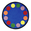 Joy Carpets Lots of Dots 13-ft 2-in x 13-ft 2-in Round Multicolor Geometric Area Rug